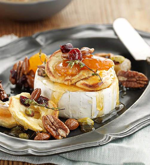 Baked Brie with honey toffee drizzle