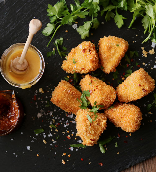 Fried Camembert with Paprika and Parsley