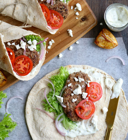 Lamb and Feta Gyros