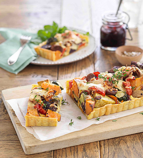 Noble roasted vegetable tart