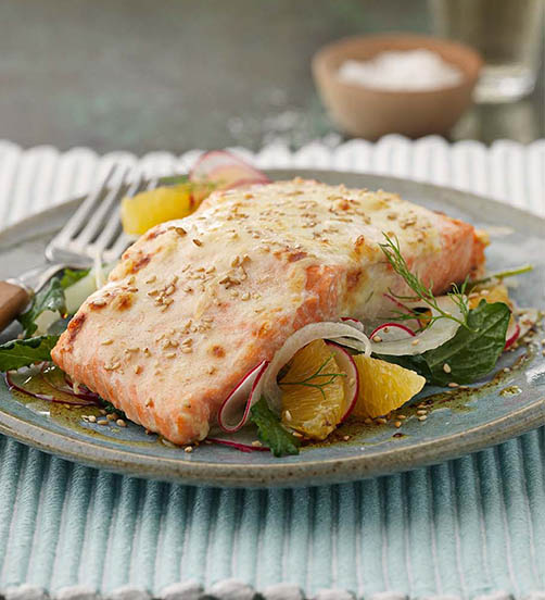 Salmon fillet with Parmesan crust