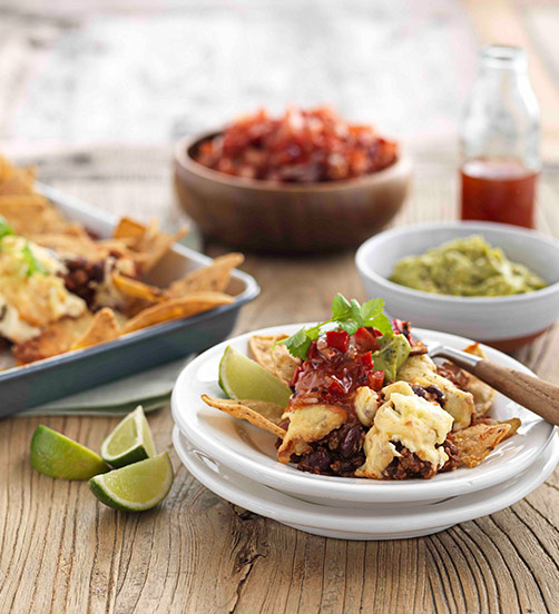 Smoked Cheese & chilli nachos