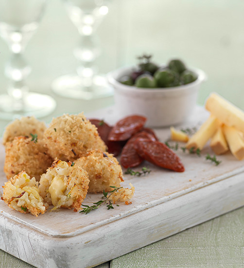 Smoked cheddar & chive rissoto balls