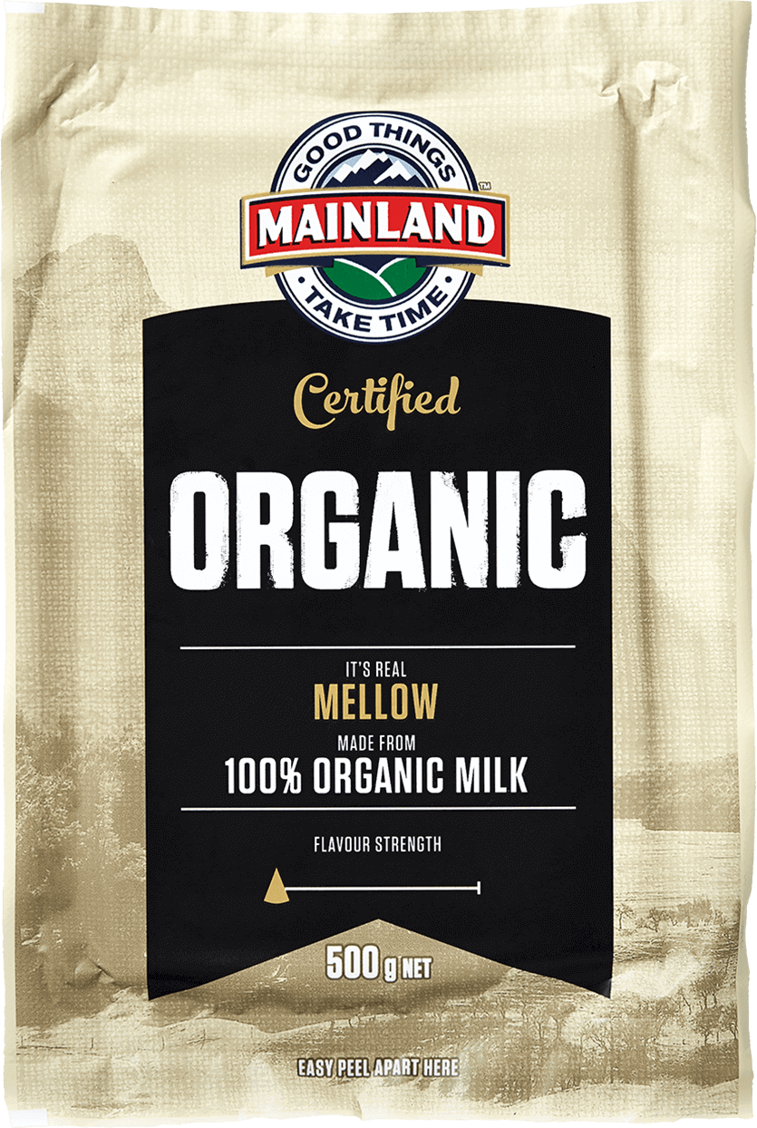 Mainland Organic Cheddar Cheese Block