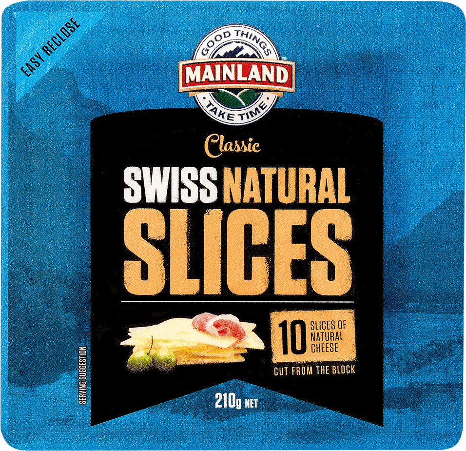 Mainland Natural Cheese Slices Swiss